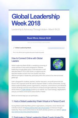 Global Leadership Week 2017