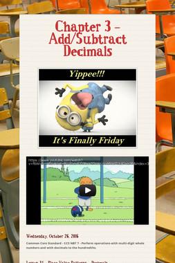 Chapter 3 - Add/Subtract Decimals