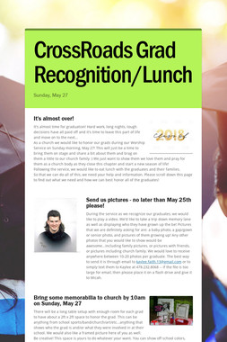 CrossRoads Grad Recognition/Lunch