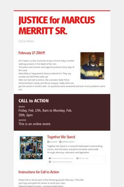 JUSTICE for MARCUS MERRITT SR.