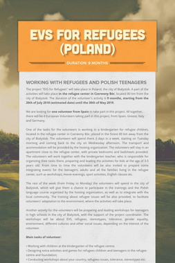 EVS FOR REFUGEES (POLAND)