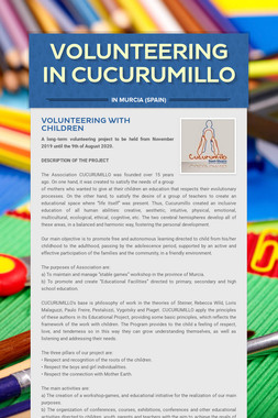 VOLUNTEERING in CUCURUMILLO