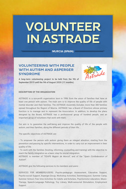 VOLUNTEER IN ASTRADE