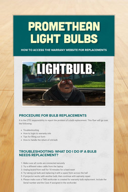 Promethean Light Bulbs