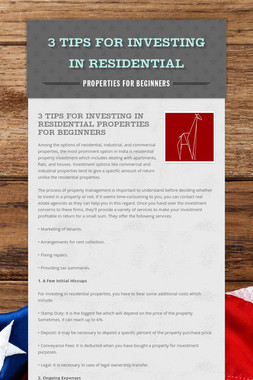 3 Tips for Investing in Residential