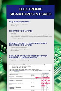 Electronic Signatures in ESPED
