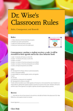 Dr. Wise's Classroom Rules