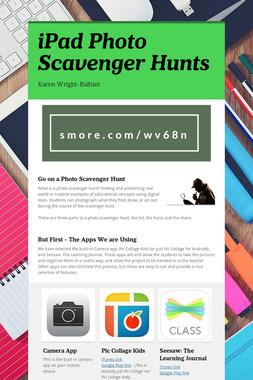 iPad Photo Scavenger Hunts