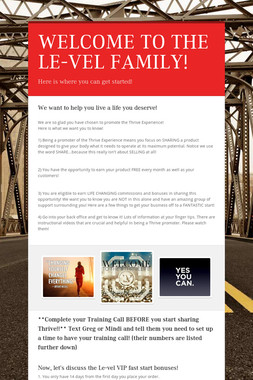 WELCOME TO THE LE-VEL FAMILY!