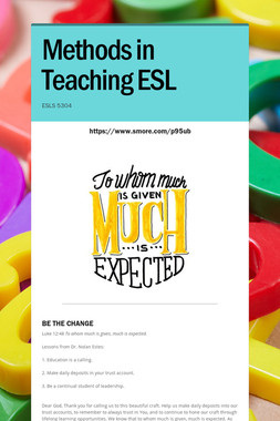 Methods in Teaching ESL
