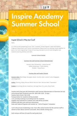 Inspire Academy Summer School