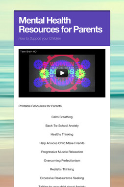 Mental Health Resources for Parents