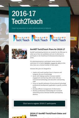 2016-17 Tech2Teach