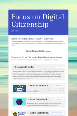 Focus on Digital Citizenship