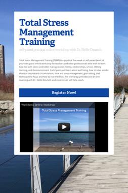 Total Stress Management Training