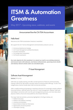 ITSM & Automation Greatness