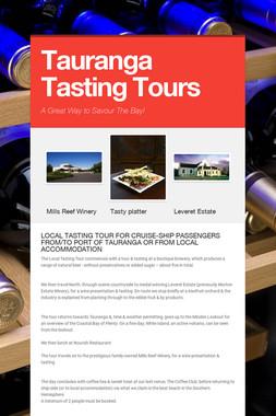 Tauranga  Tasting Tours