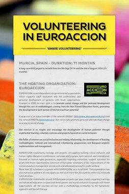 VOLUNTEERING IN EUROACCION