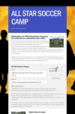 ALL STAR SOCCER CAMP
