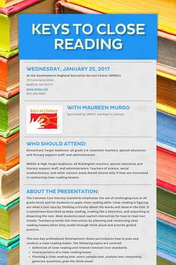 Keys to Close Reading