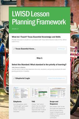 LWISD Lesson Planning Framework