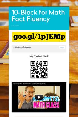 10-Block for Math Fact Fluency