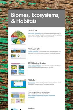 Biomes, Ecosystems, & Habitats