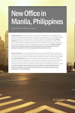 New Office in Manila, Philippines