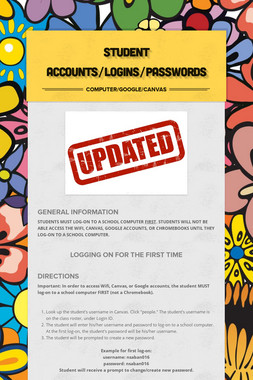 Student Accounts/Logins/Passwords