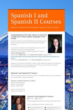 Spanish I and Spanish II Courses