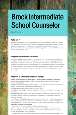Brock Intermediate School Counselor