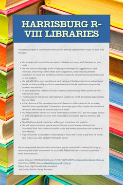 Harrisburg R-VIII Libraries