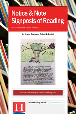 Notice & Note Signposts of Reading