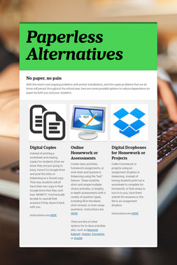 Paperless Alternatives