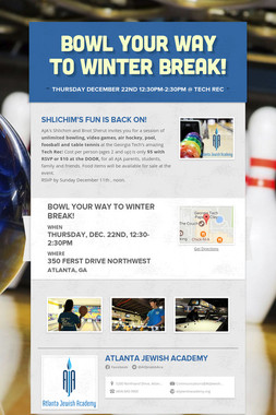 Bowl Your Way To Winter Break!