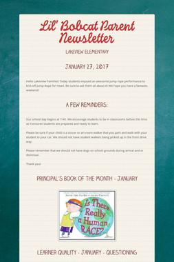 Lil' Bobcat Parent Newsletter