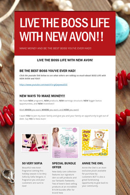 LIVE THE BOSS LIFE WITH NEW AVON!!