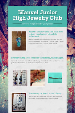 Manvel Junior High Jewelry Club