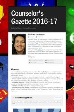 Counselor's Gazette 2016-17