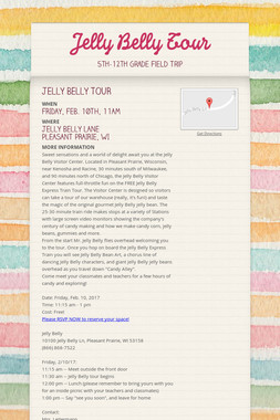 Jelly Belly Tour