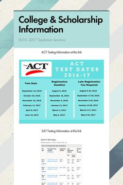 College & Scholarship Information