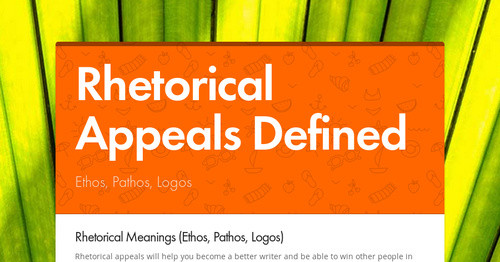 rhetorical appeals definition