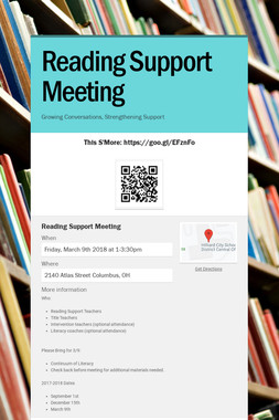 Reading Support Meeting