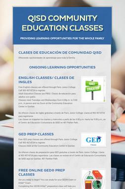 QISD Community Education Classes