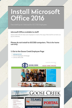 Install Microsoft Office 2016