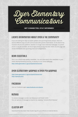 Dyer Elementary Communications