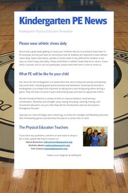 Kindergarten PE News