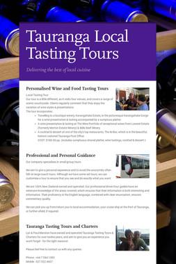 Tauranga Local Tasting Tours