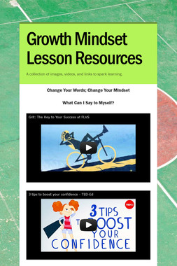 Growth Mindset Lesson Resources