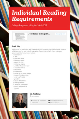Individual Reading Requirements